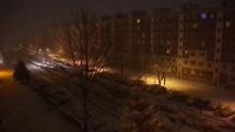 Husté sneženie v Brezne