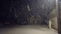 Noční sněžení v ČR