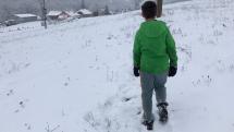 zasnezeny den v Dolnom Bukovci okr VK