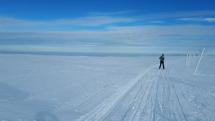Zima v Krkonoších, Luční Bouda, Sněžka
