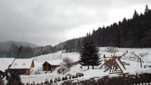 Filipovice - 1°C ... sníh mokrý, je bezvětří pohledem ve 12 hod. na Jesenicku