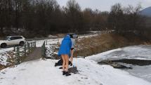Otužilkyne vo vodnej nádrži Sigord - Prešov