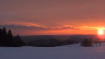 Západ slunce na západě Čech