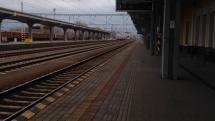 Osobný vlak v stanici Trenčianska Teplá