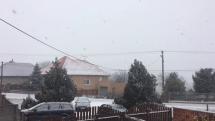 Sneženie v Nitrianskom Hrádku