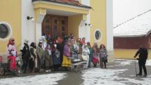 Fašiangový sprievod v Tepličke nad Váhom