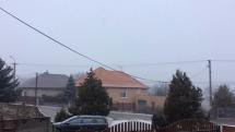 Ranné sneženie v Nitrianskom Hrádku