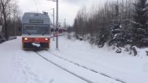 Tatranská električka v zime