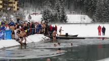 Zimné plávanie - vstup do vody
