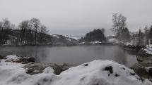 Zimná scenéria prírodného unikátu