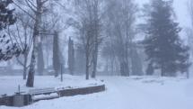 Sneženie mínusové teploty