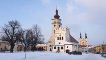 Mesto Podolínec - slnečno a chladno