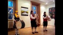 Vystúpenie gréckych gajdošov z Moravy v rámci Medzinárodného gajdošského festivalu