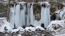 Hájske vodopády v zime