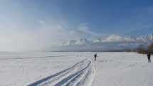 Nádherná scenéria na bežky v lokalite pod vysokými tatrami