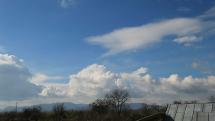 Pribudajúca oblačnosť v okolí Plechotíc