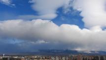oblačnosť nad Tatrami z Popradu