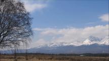 Tatry od popradského letiska