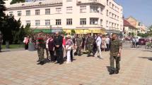 Stretnutie občanov pri Pamätníku osloboditeľov v Trnave