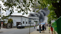požiar skladu Praha 3