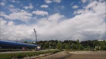 Oblačnosť nad Tatrami z Popradu - Spišskej Soboty