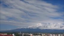 Oblačnosť nad Tatrami, dnes 26.5.2018  - z Popradu