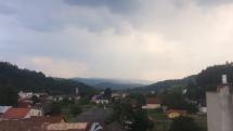 Búrkové pásmo nad Levočskými vrchmi