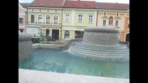 Kašna na náměstí v rakouském Gmündu