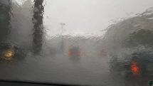 Déšť u Národního muzea