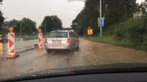 Po dešti v Ostravě
