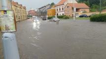 Blesková povodeň ve Slaném