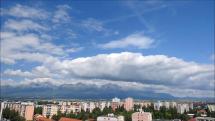 časozber oblačnosti nad Tatrami - z Popradu, dnes 16.6.2018 dopoludnia