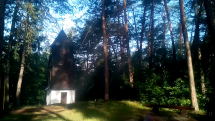 Nová Baňa dnes ráno v lese