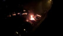 Požiar 4 áut BB 3:30