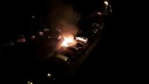 Požiar 4 áut BB