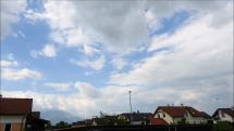 časozber oblačnosti nad Tatrami a Popradom