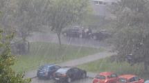 dážd v Poprade - dnes, 31.8.2018......11,45 hod.