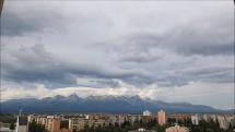 časozber oblačnosti nad Tatrami - z Popradu, 11.9.2018