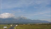 oblačnosť v okolí Tatier- z Popradu, 17.9.2018