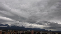 časozber oblačnosti nad Tatrami, dnes ráno = 22.9.2018