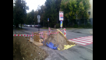 Prace na ceste centrum Zvolen