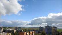 časozber oblačnosti v okolí Popradu, smer - Východ, 29.9.2018