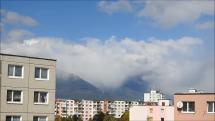snehová prehánka nad Tatrami, 29.9.2018, okolo poludnia