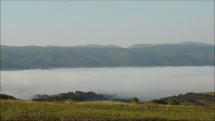 údolná hmla v okolí Spišského hradu