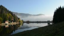Slovenský raj - ranná hmla nad priehradou