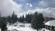 Štrbské pleso sneh