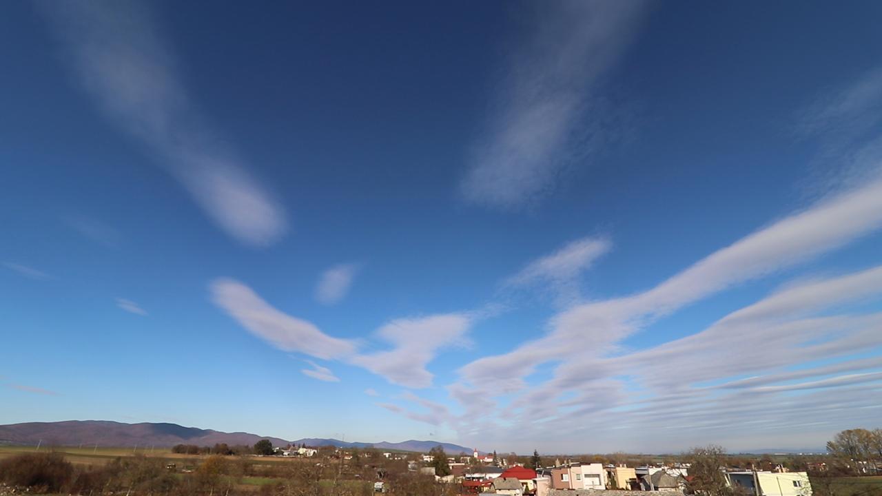 Zaujímavá oblačnosť na Dolnom Zemplíne