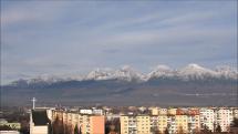 aktuálna snehová pokrývka - 20.11.2018, okolo 9-tej hod.  - z Popradu