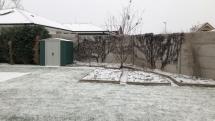 Prvý sneh v Novej Dedinke