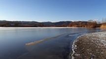 Ružinská priehrada zamrzla 2019 01 06